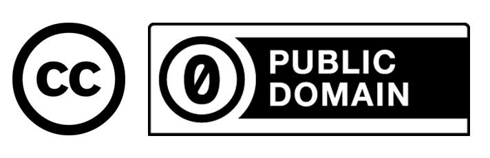 CC0 1.0 Public Domain Dedication icon